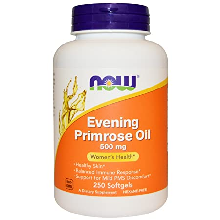 NOW Foods Evening Primrose Oil 500mg 500 2 Packs of 250 softgels