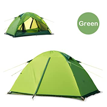 Topnaca Naturehike 2 Person 3 Season Ultralight C&ing Tent - Silicone Coating Two Doors Double Layer  sc 1 st  Amazon.com & Amazon.com : Topnaca Naturehike 2 Person 3 Season Ultralight ...