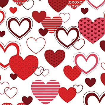 xoxo romantic love wrapping paper 40ft roll - Valentines Day Wrapping Paper