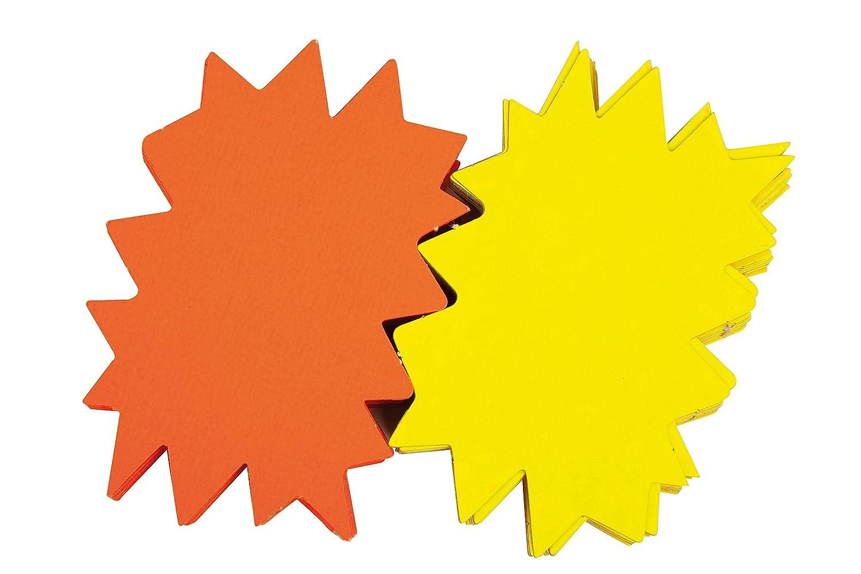 color amarillo y naranja 12 x 16 cm, 50 unidades Agipa 16950 Juego de etiquetas fluorescentes