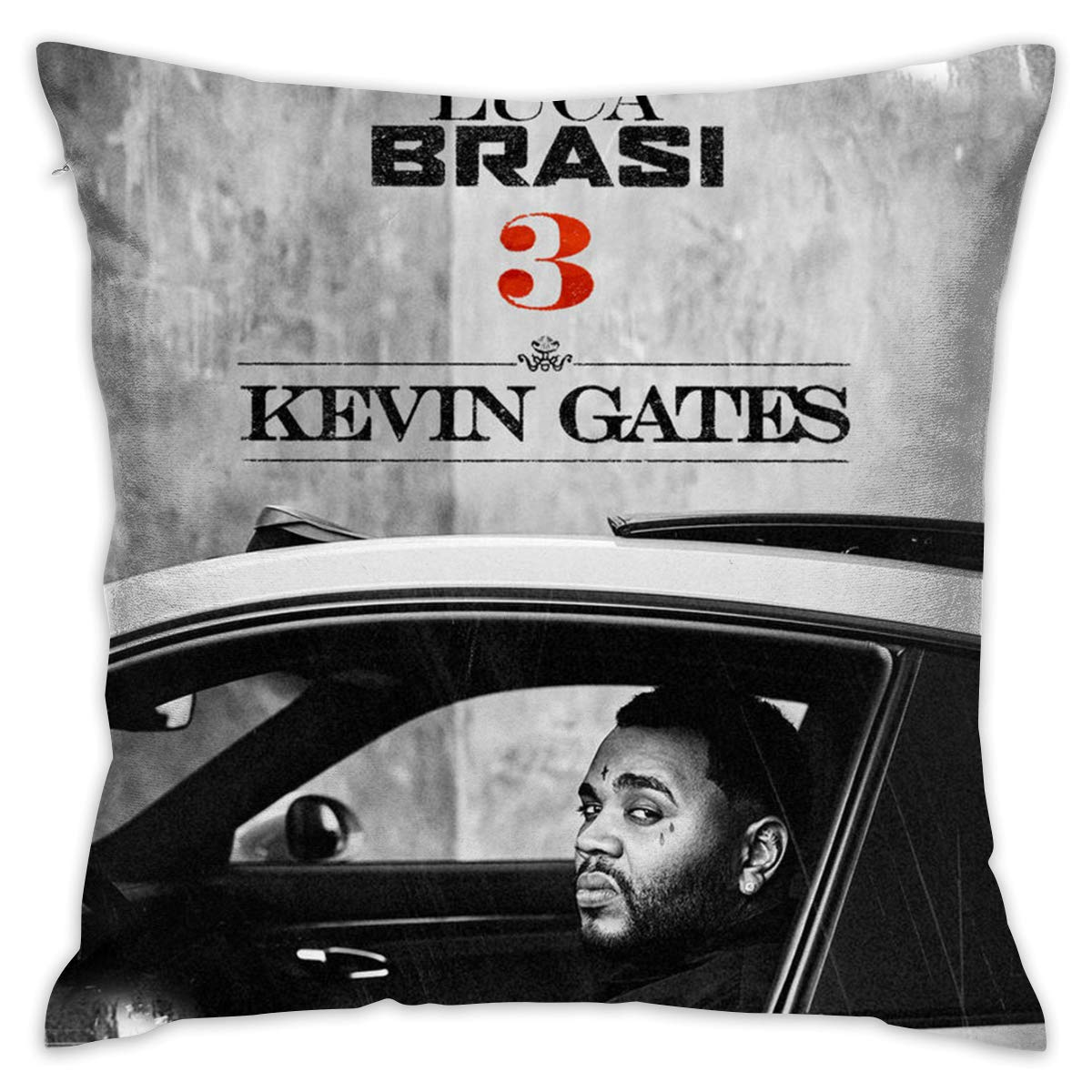 2 Sides ONE Size 20nch20inch Pillow Case CharlieRGill Kevin Gates Luca Brasi Gift Or Decor for Play Room Kids Girls Son Home Kids Room Lover