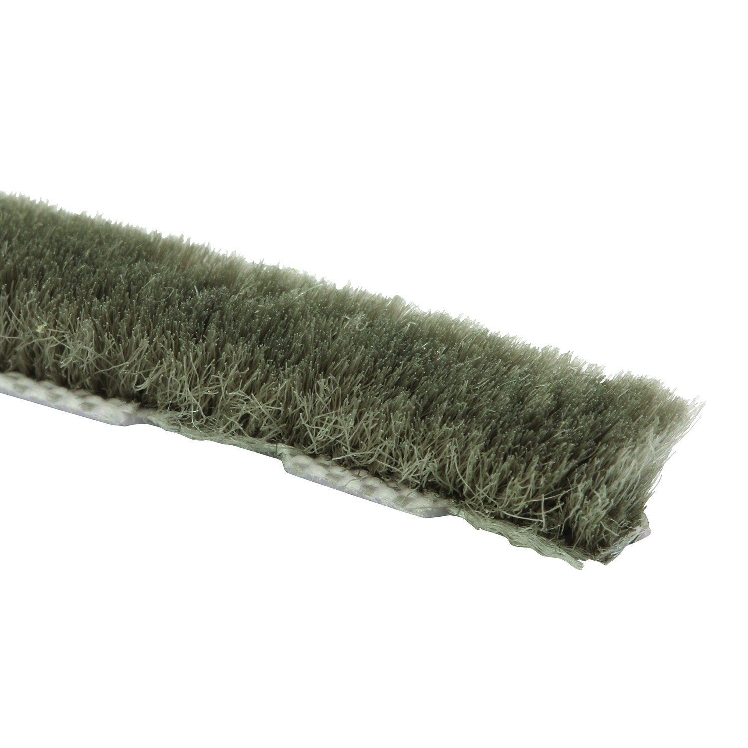 Prime-Line Products T 8756 Zipper Pile Weatherstrip for Windows & Doors, 18 ft., Grey, Owens Corning, Non-Adhesive