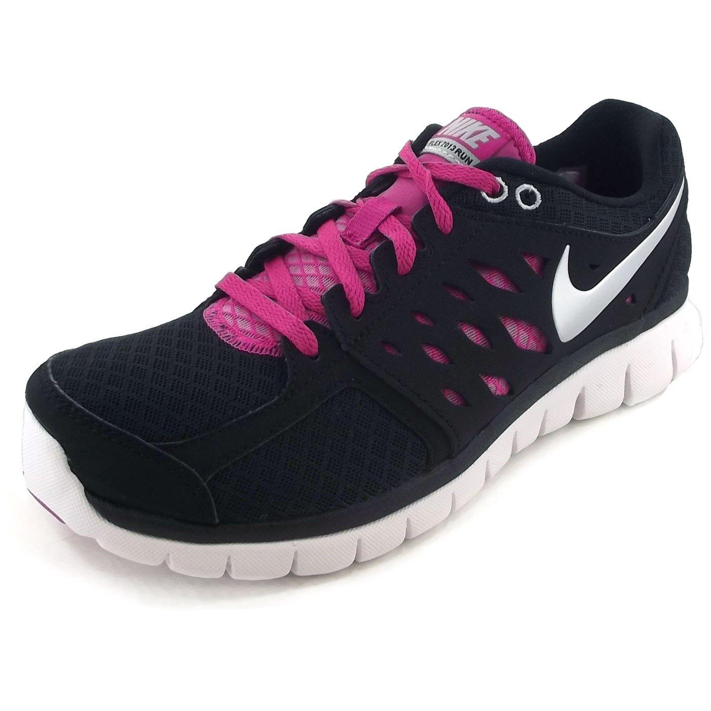 Nike Flex 2013 Run 580440 Damen Sneaker, schwarzweißpink