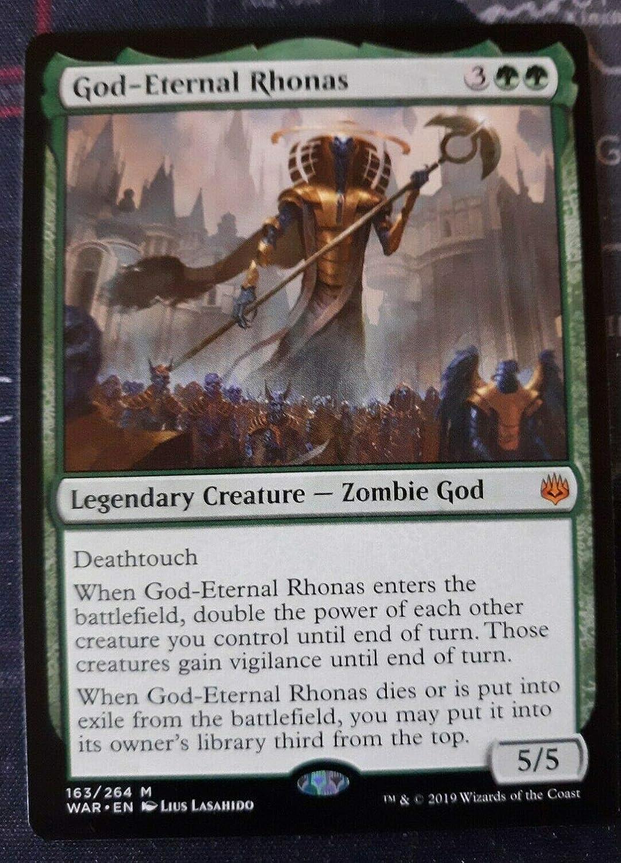 Amazon Com Mtg War Of The Spark God Eternal Rhonas 163 264 Rare Nm M Toys Games