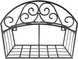 Liberty Garden 241 Decorative Black Garden Shelf Hose Hanger/Butler, 14 x 6.7 x 11.5