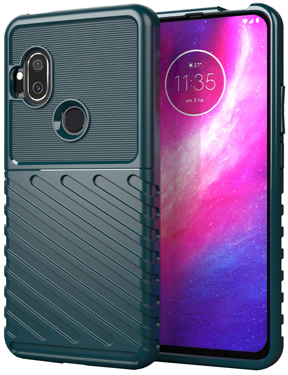 Funda Para Motorola One Hyper (dark Green)