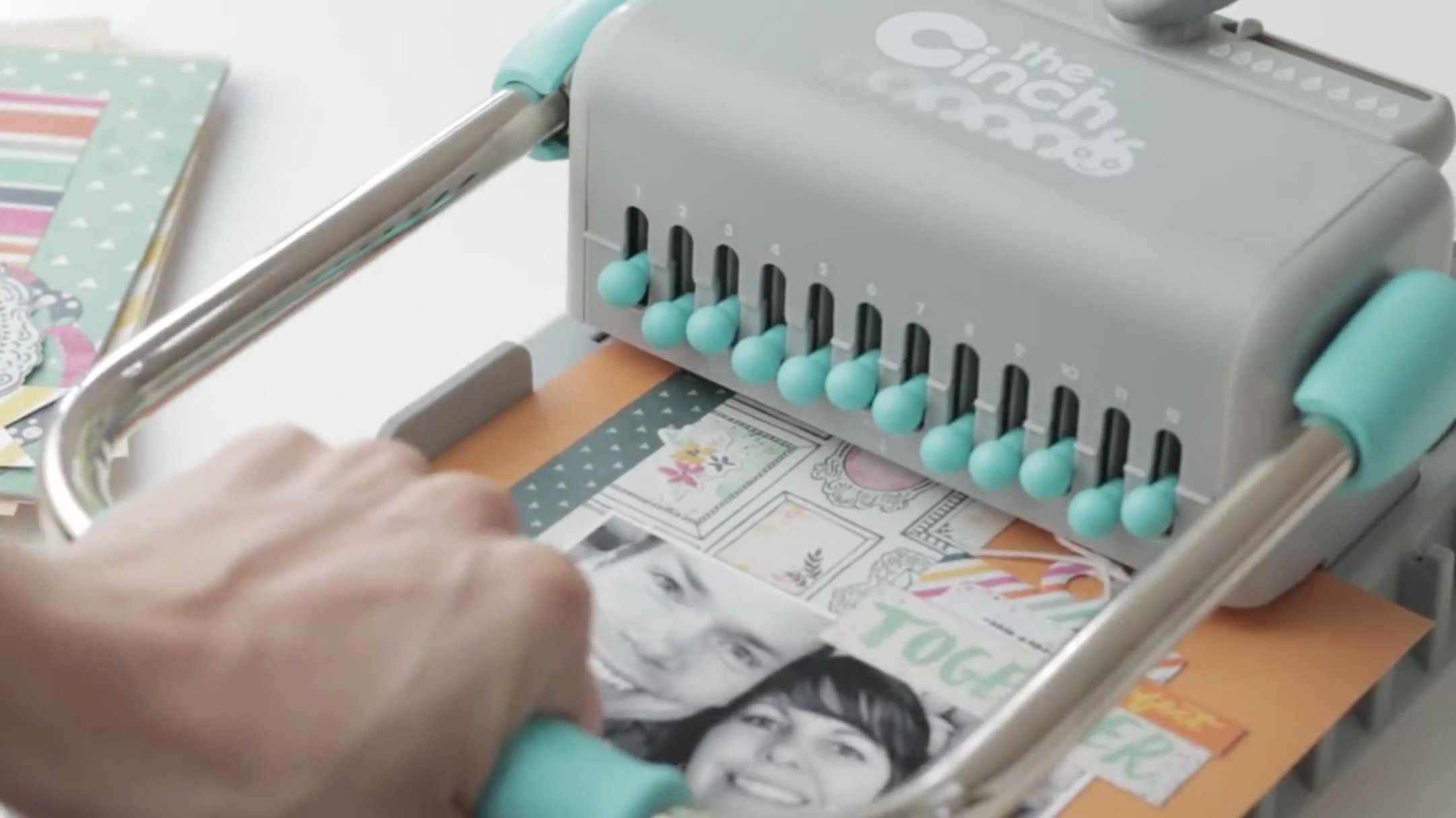 The Cinch Book Binding Machine, Version 2 by We R Memory Keepers   Teal and Gray by We R Memory Keepers (Image #8)