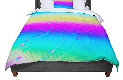 68 X 88 68 X 88 LP1008ACF01 KESS InHouse Liz Perez Indigo Soul Pastel Multicolor Digital Twin Comforter