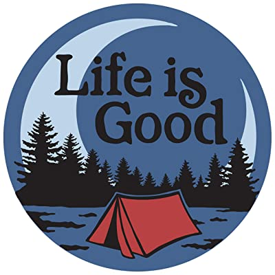 Life is Good Circle Sticker, LIG Camp Scenic: Sports & Outdoors