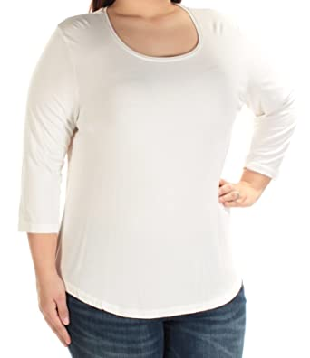 5ef3bbccf79316 Image Unavailable. Image not available for. Color  JM Collection Petite  Three-Quarter-Sleeve Top