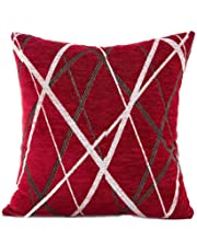 Cushion Cover, HUHU833 45cm*45cm Stylish Simplicity Polyester Sofa Throw Pillow Case Home Decor (Red)
