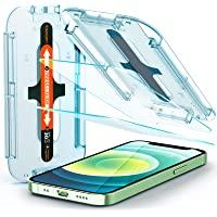 Spigen Glas.tR EZ Fit Screenprotector compatibel met iPhone 12 Mini, 2 stuks, met sjabloon voor installatie, Case…