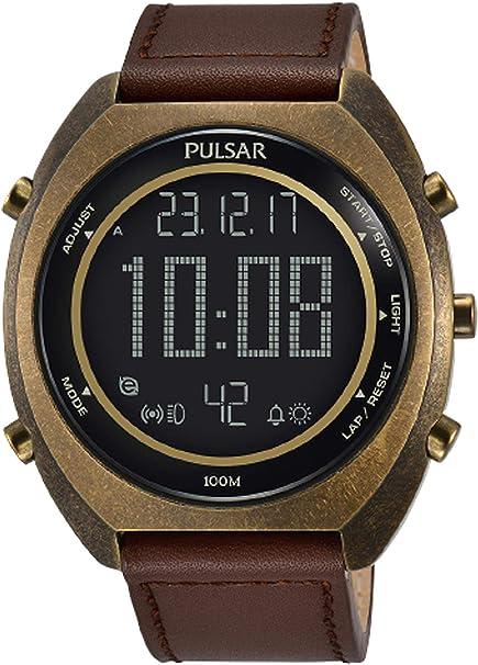Pulsar Reloj Digital para Hombre de Cuarzo con Correa en Cuero 1