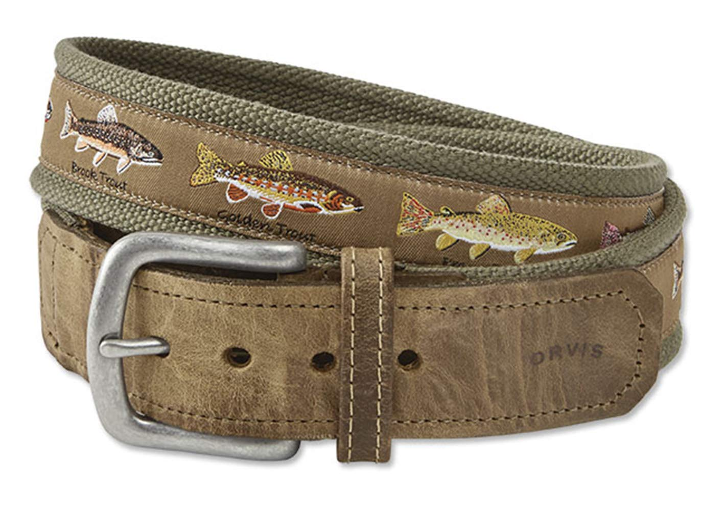 Orvis Men's Pontoon Trout Story Belt, Olive, 38 by Orvis