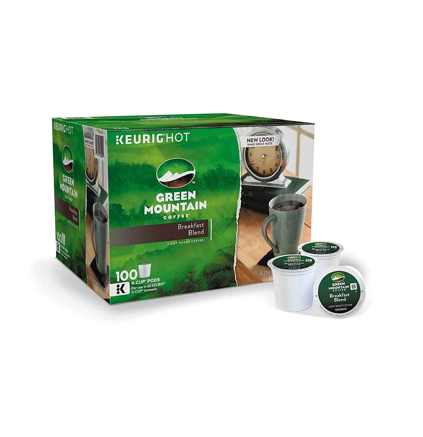 Green Mountain Coffee Breakfast Blend, K-Cup for Keurig Brewers, 100 Count (Packaging May Vary)