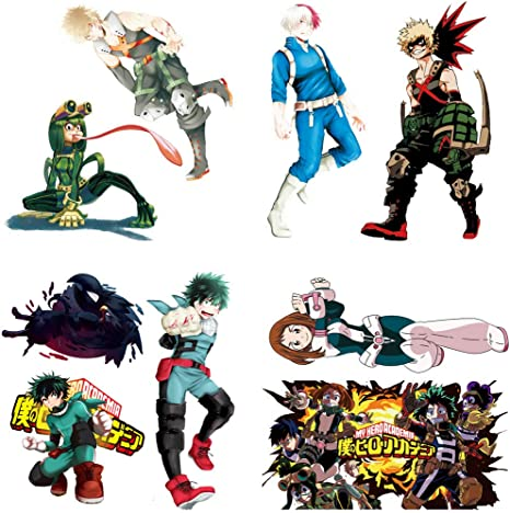 My Hero Academia Stickers Wall Sticker Decor Peel My Hero Academia Stick Poster Decals Vinyl Wallpaper For Kids Rooms Decorations 20 X20 Amazon Ca Home Kitchen