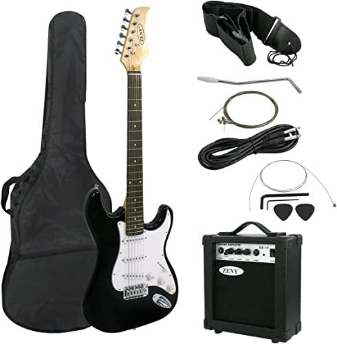 ZENY 39 Full Size Electric Guitar with Amp, Case and Accessories Pack Beginner Starter Package