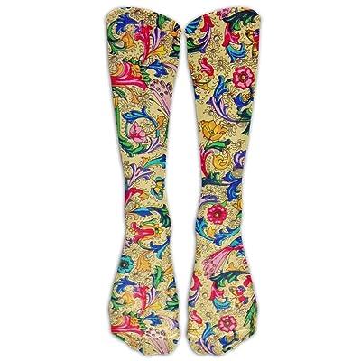 High Boots Crew Retro Print Compression Socks Comfortable Long Dress For Men Women