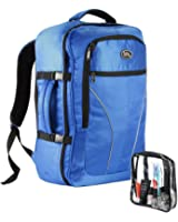Cabin Max Palermo Carry-on luggage Cabin bag Detachable Toiletry Bag 44 litres 55x40x20cm (Electric Blue)