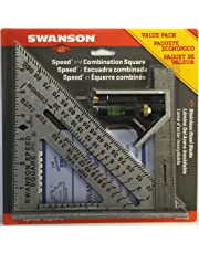 Swanson Tool S0101CB Speed Square with Book and Combination Square Value Pack