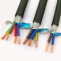 JINchao koppartråd 5 m elektrisk tråd, 2 kärna 3 kärna 4 kärna, koppartråd, 0,2–2,5 mm ljudsignalkontroll skärmad kabel…
