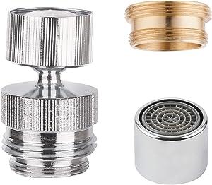 Faucet Adapter to Garden Hose, Kitchen Sink Aerator, Bathroom Sink Aerator, Garden Hose Adapter for 360-degree Swivel, Garden Hose Sink Faucet Adapter, Female Kitchen Faucet Aerator