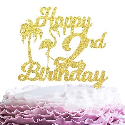 Adorno para tarta de 2 cumpleaños.: Amazon.com: Grocery ...