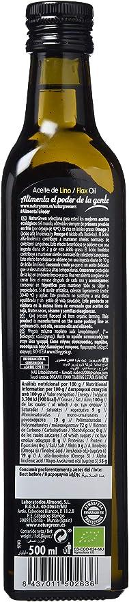 NATURGREEN ACEITE LINO 500 ml: Amazon.es: Alimentación y bebidas