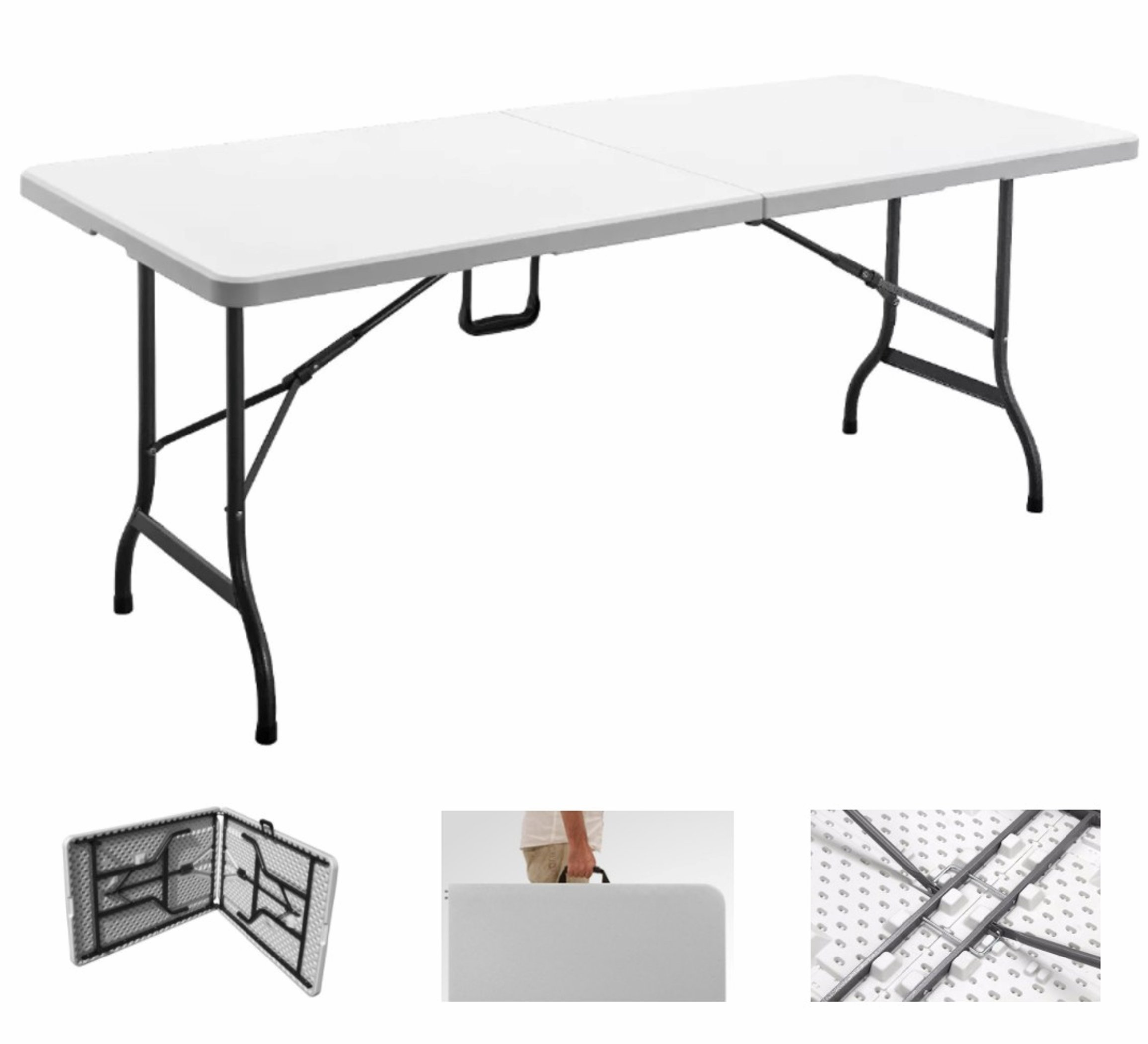 Multipurpose Folding Table Portable Plastic Indoor Outdoor 6'' by WE LOVE DECORATION (Image #1)