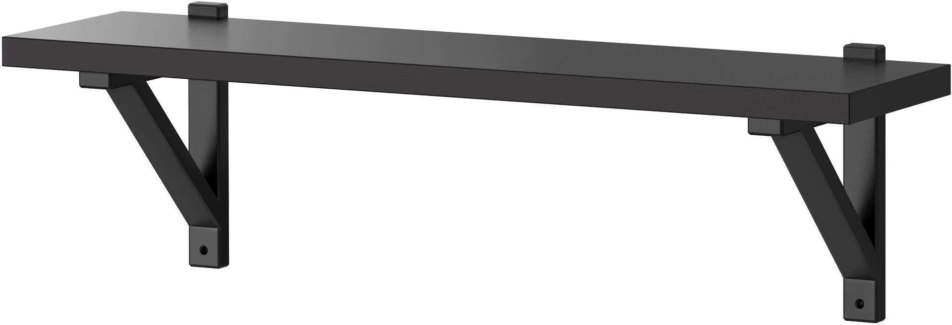 EKBY JÄRPEN / EKBY VALTER Wall shelf - black-brown/black - IKEA