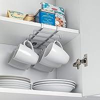 Colgador de cocina para 10 tazas, color plateado