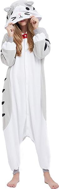 Oferta amazon: Pijama Animal Entero Unisex para Adultos con Capucha Cosplay Pyjamas Ropa de Dormir Traje de Disfraz para Festival de Carnaval Halloween Navidad Talla L