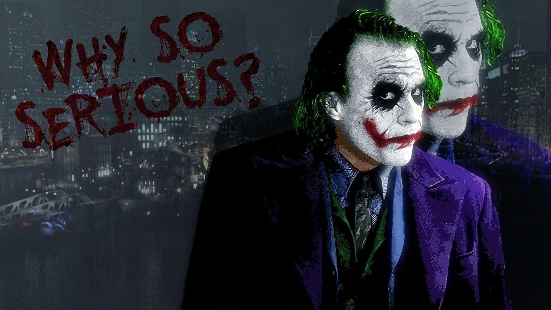 Posterhub Wall Poster A Wallpaper Batman Joker Serious Movie
