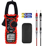 Hattomen Digital Clamp Meter, 6000 Counts Multimeter Volt Meter for Measuring Voltage AC Current Resistance (HT206A)