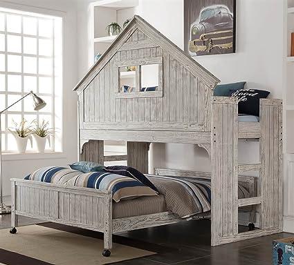 DONCO KIDS 770889 Low Loft Bed White Kitchen