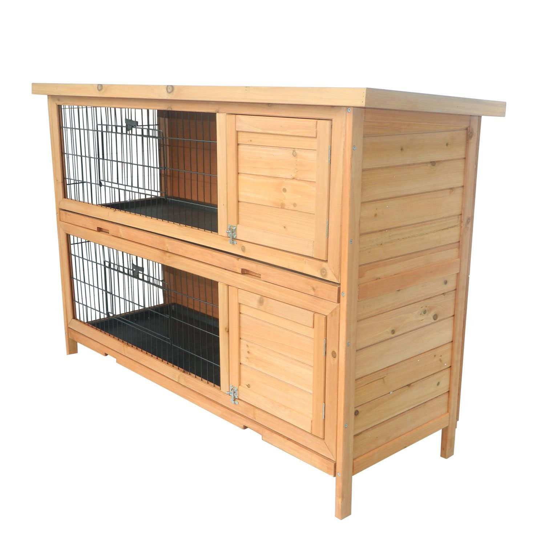 amazon pawhut playpen animal multi com level compact hutch rabbit garden wooden hutches small gspl dp sale for handmade outdoor