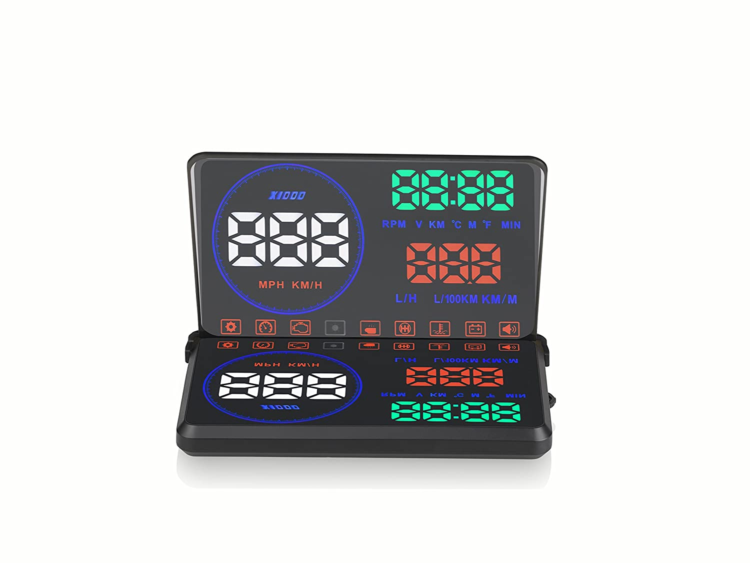 Eoncore M9 5.5 Car HUD Head Up Display with OBD2 Interface Plug /& Play KM//h MPH Speeding Warning Driving Distance Display With HD Image Reflection