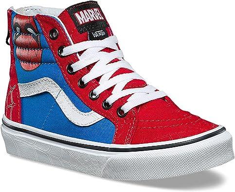 Sk8 HI Zip Spiderman Skate Shoe