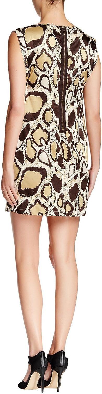 VERTIGO PARIS Womens Printed Sleeveless Short Shift Dress