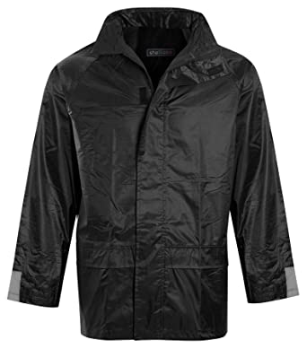 a7dc6743d shelikes Mens Womens Unisex Waterproof Hooded Mac Trench Cagoule Kagool KAG  Jacket Trouser