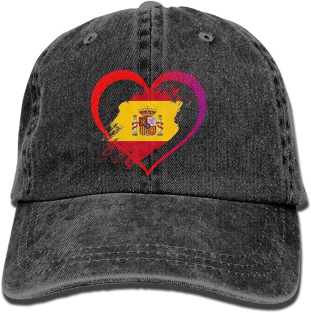 HomePink Gorra de béisbol para Hombres y Mujeres, Bandera de España en Forma de corazón Unisex Algodón Ajustable Jeans Cap Hat: Amazon.es: Ropa y accesorios