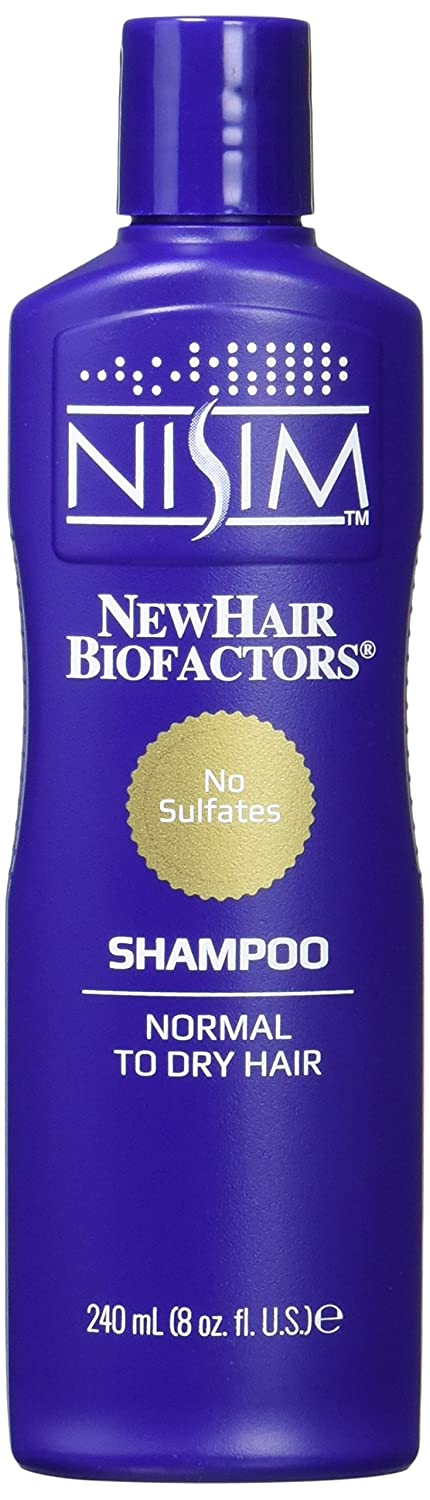 NISIM Normal To Dry Shampoo 8Oz/240Ml - No Sulfates, Parabens, Dea - Hair Loss Reduction In 1 Week, 240 Milliliters SU2201