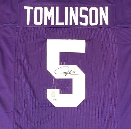 new style 98a5e a3084 TCU Horned Frogs LaDainian Tomlinson Autographed Purple ...