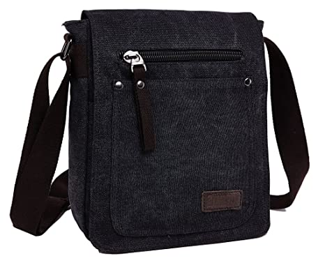 Amazon.com | ZUOLUNDUO Vintage Small Canvas Shoulder Messenger Bag ...