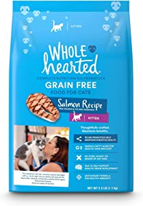 WholeHearted Grain-Free Salmon Recipe Dry Kitten Food, 2.5 lbs.