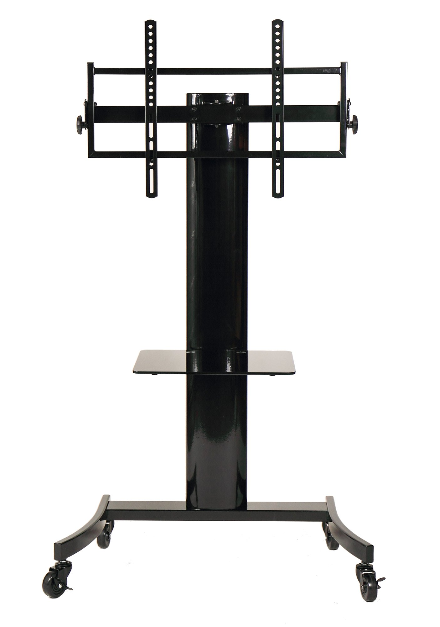 TransDeco Flat Panel TV Cart/Stand with TV Mounting System for 35 to 75'' TV - TD590B, Black