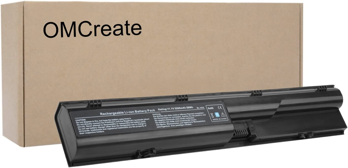 OMCreate 633805-001 Battery Compatible with HP Probook 4540S 4530S 4440S 4430S 4545S 4535S 4330S Series, fits P/N HSTNN-IB2R 633733-321