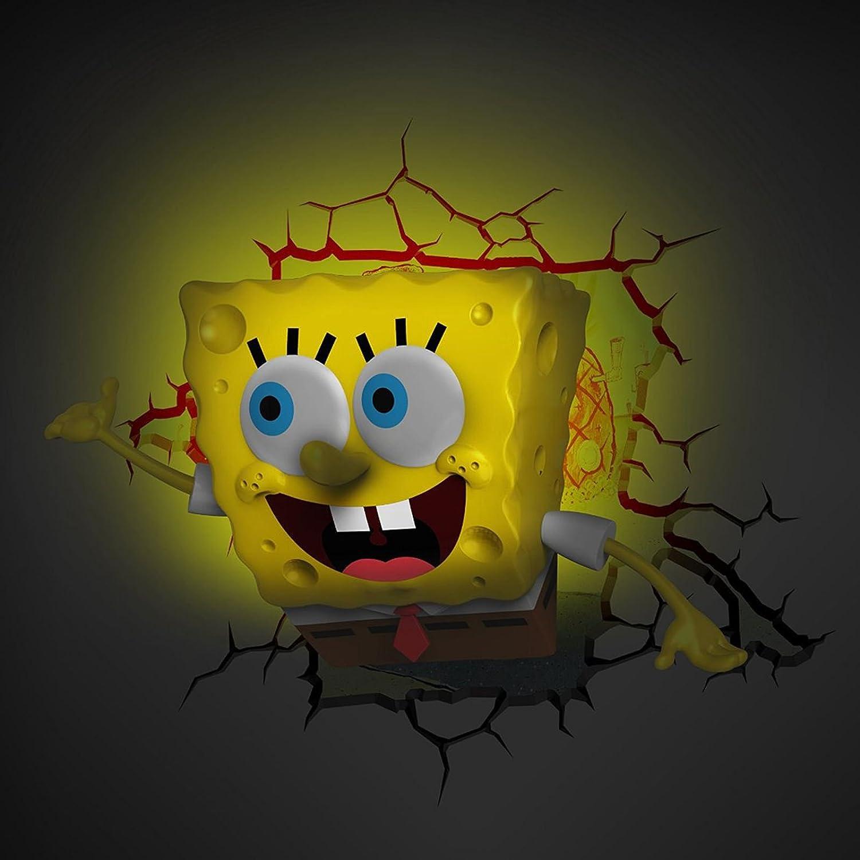 Amazon.com: Spongebob Squarepants 3D LED Wall Light: Home & Kitchen
