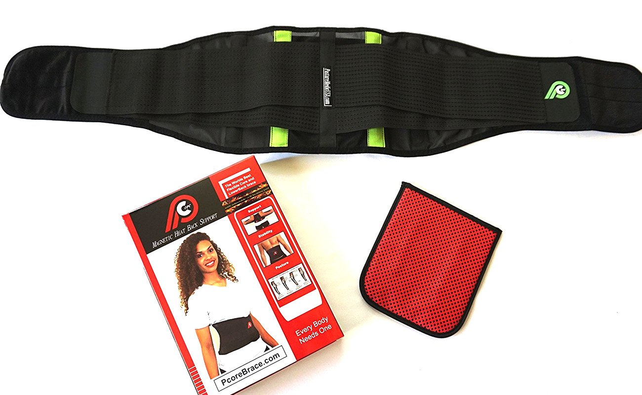 pCore - Magnetic Heat Lower Back Therapy Support Belt by PcoreBrace.com