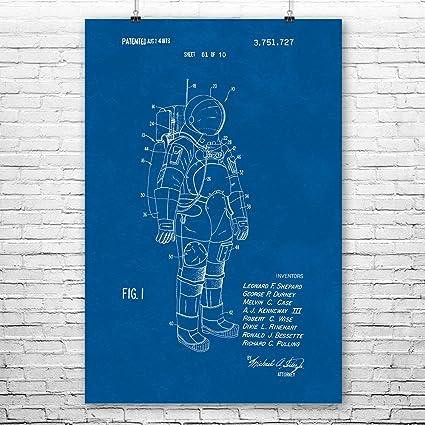 Amazon apollo astronaut space suit poster patent art print apollo astronaut space suit poster patent art print nasa travel technology engineer malvernweather Choice Image